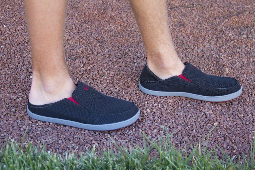 Olukai drop in heel shoes