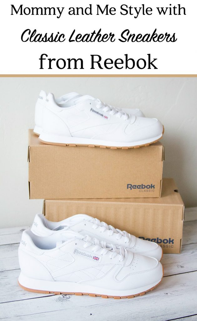 Mommy and Me Style with Classic Leather Sneakers from Reebok