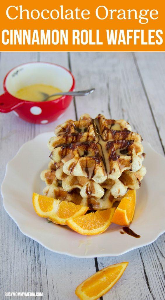 Chocolate Orange Cinnamon Roll Waffles