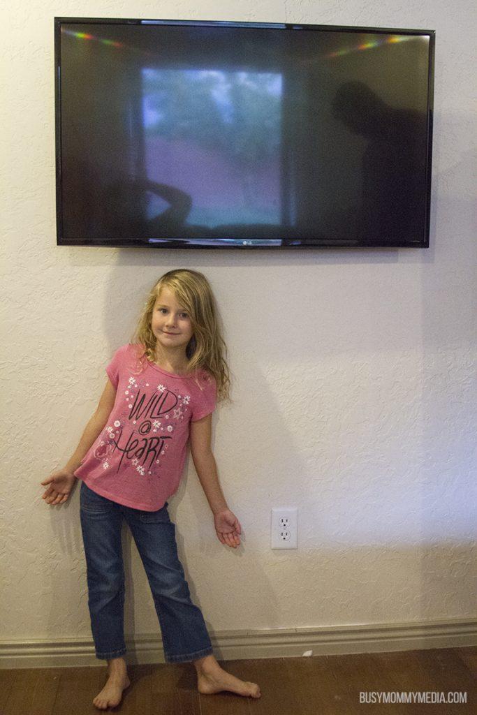 Cord free TV mount
