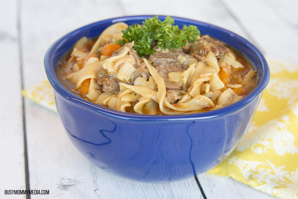Crock Pot Beef Noodle Soup