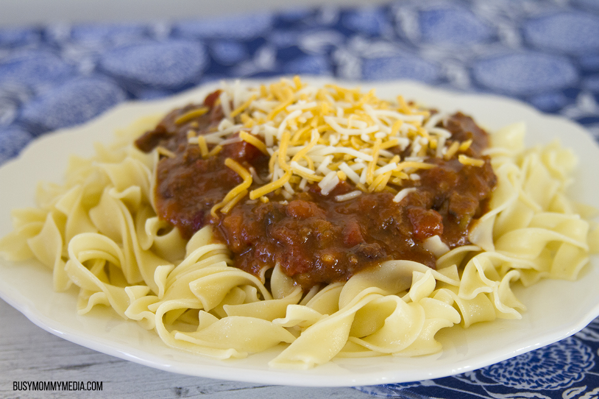 Cheesy Chili Noodles