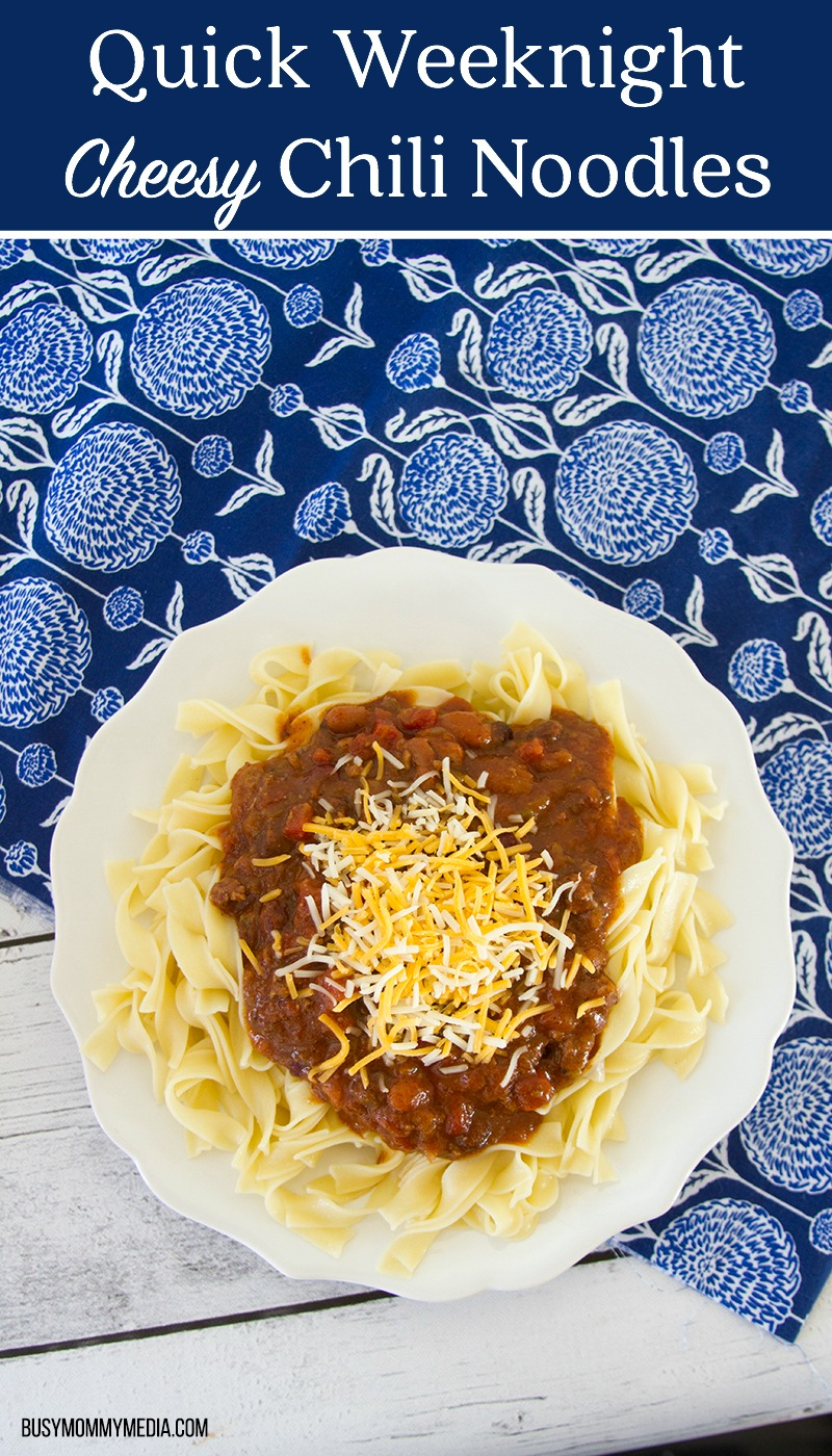 Quick Weeknight Cheesy Chili Noodles