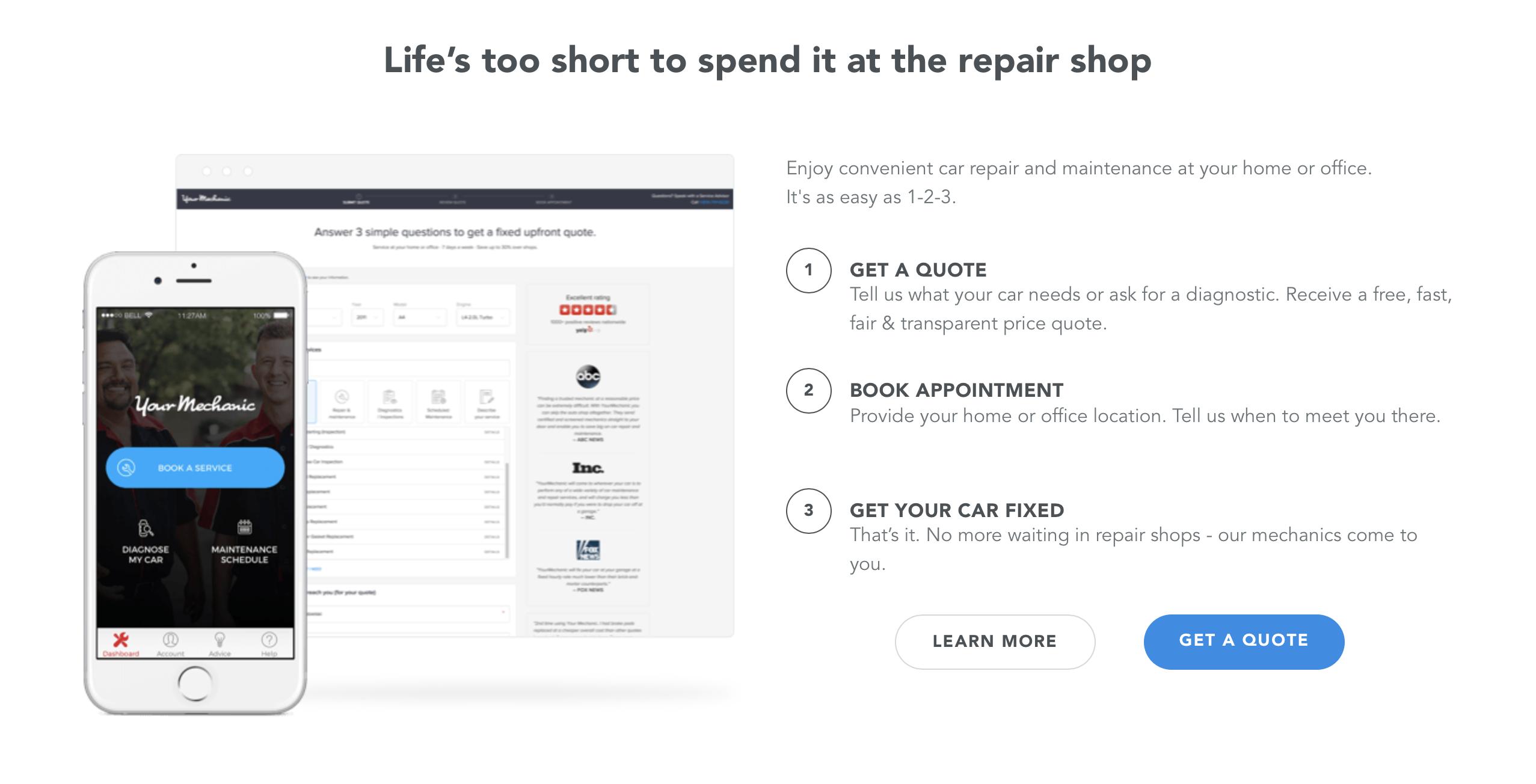 How does YourMechanic.com work?