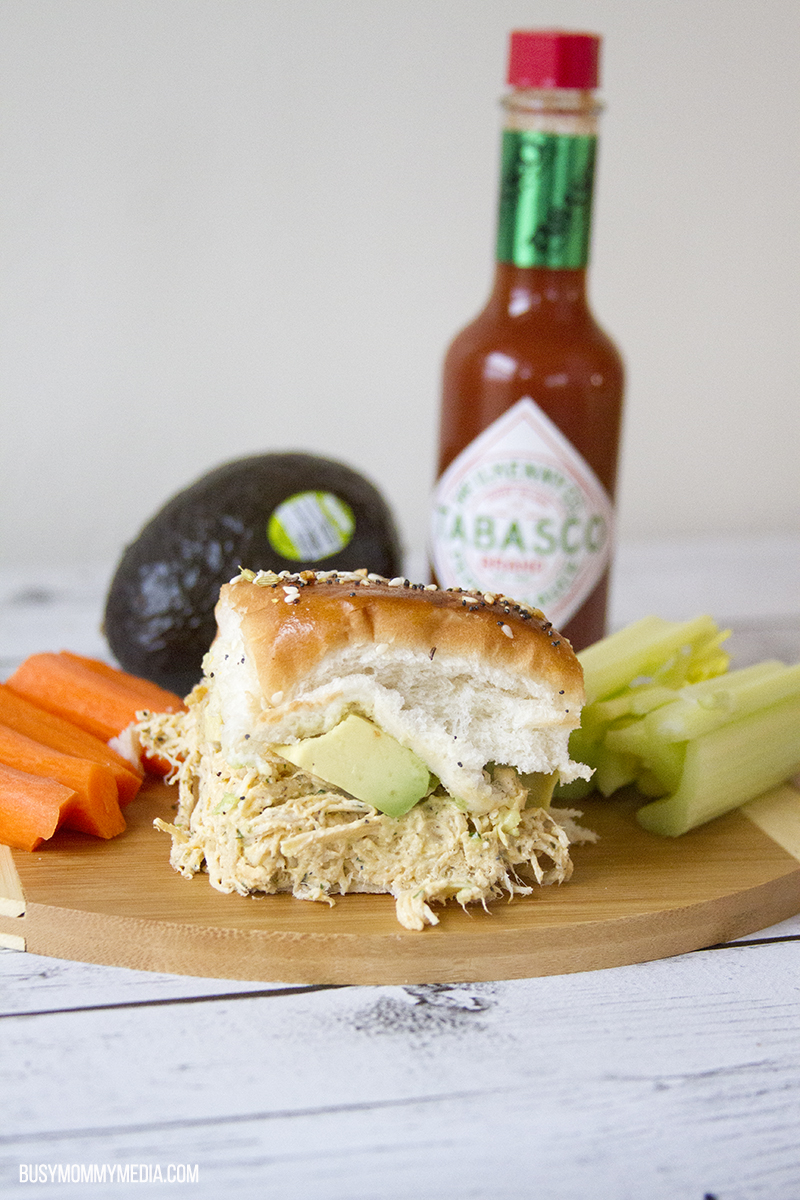 Spicy Ranch Chicken Sliders with Avocado for the Big Game