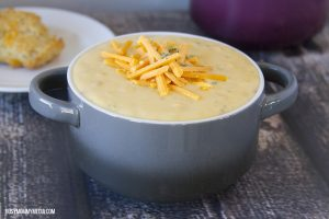 Quick and Easy Potato Soup with Herb Biscuits
