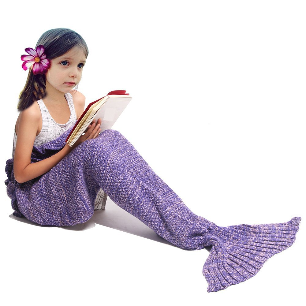 Mermaid tail blanket for kids