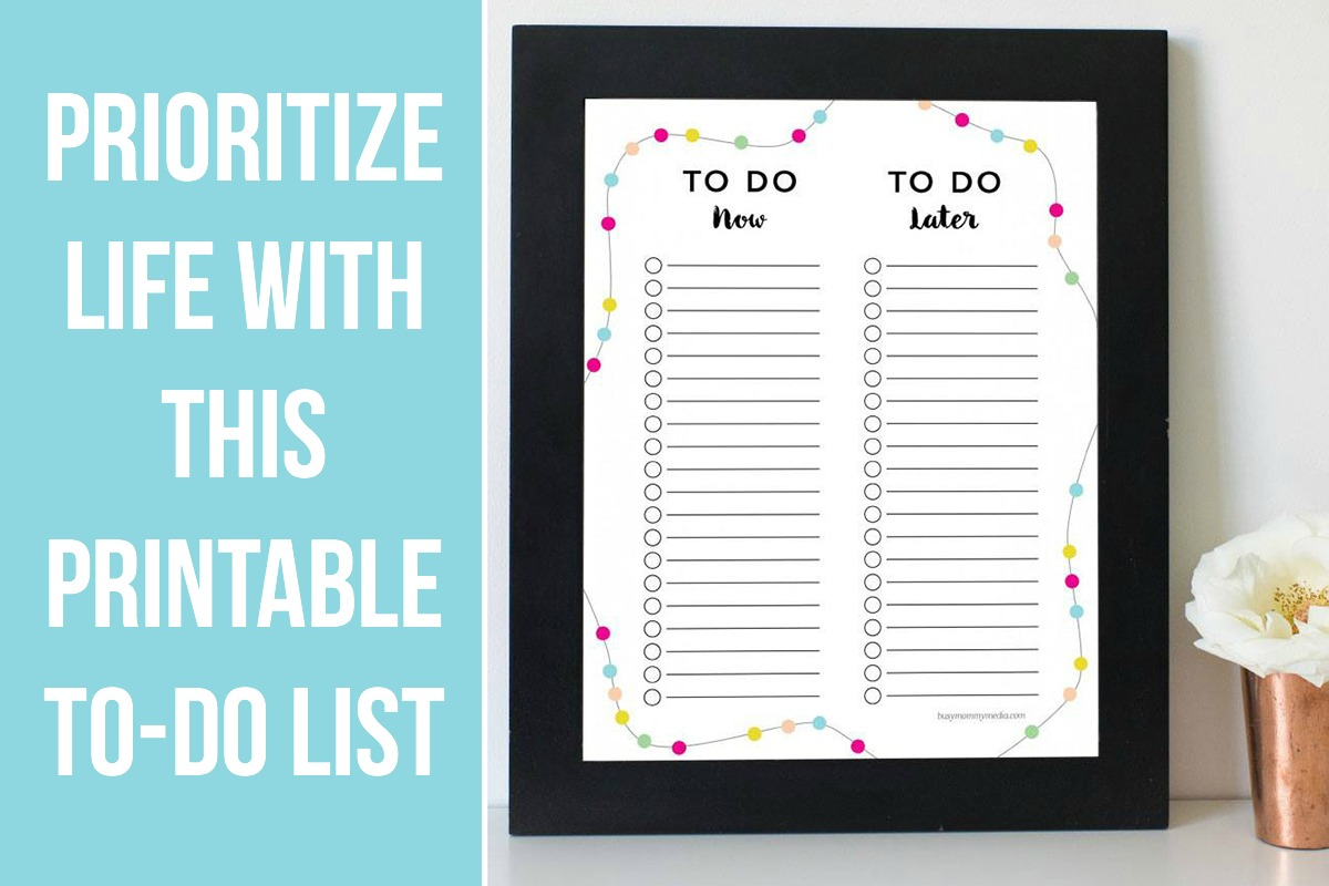 Prioritize Life with this Printable To-Do List