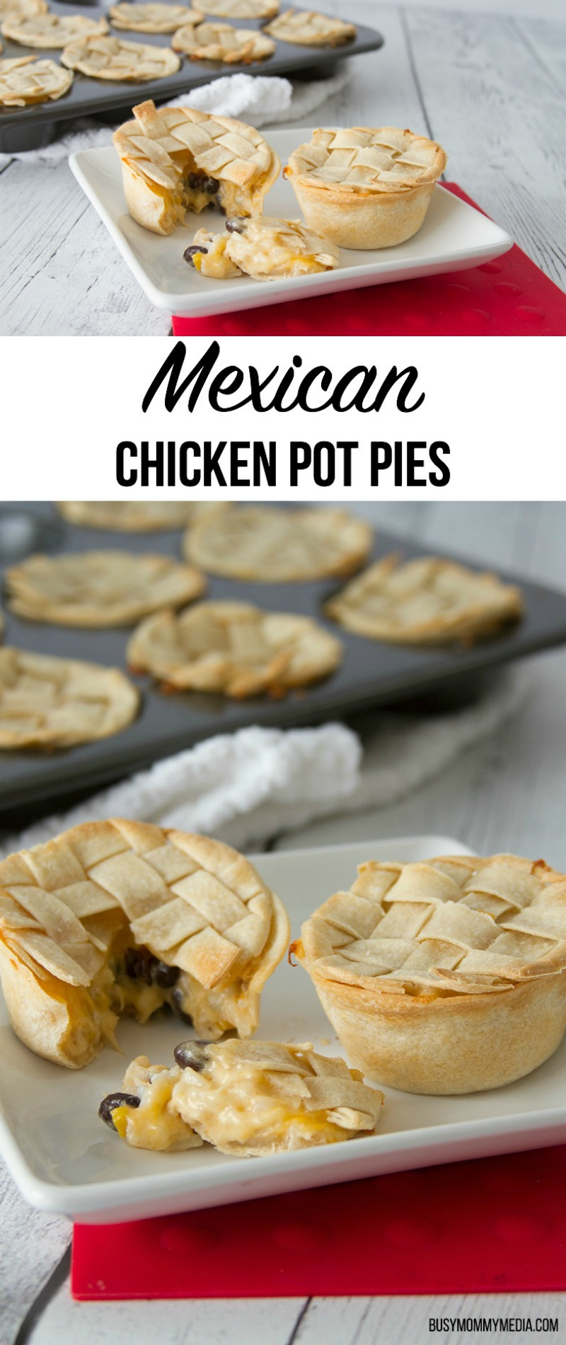 Mexican Chicken Pot Pie Recipe | These fun mini-hand pies are perfect for entertaining and kids love them!