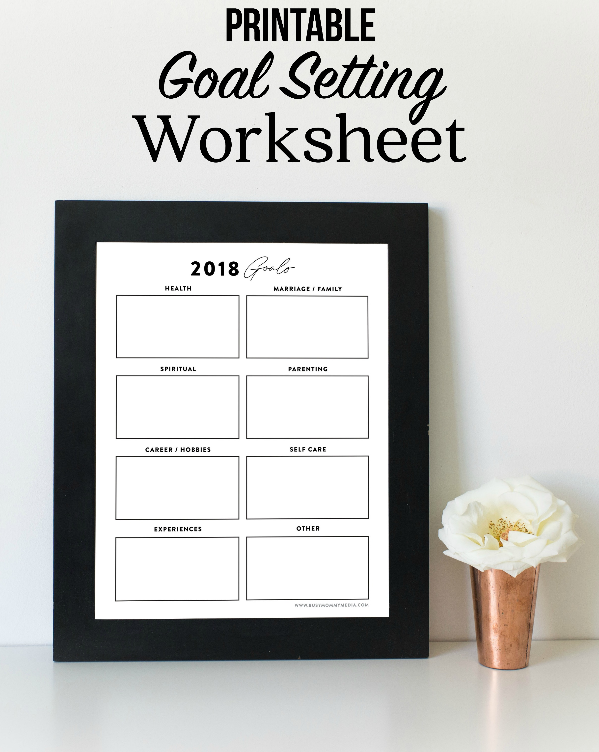 worksheet Setting Worksheet goal setting worksheet