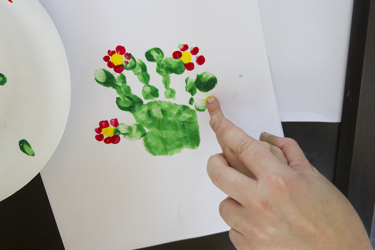Handprint Cactus for kids