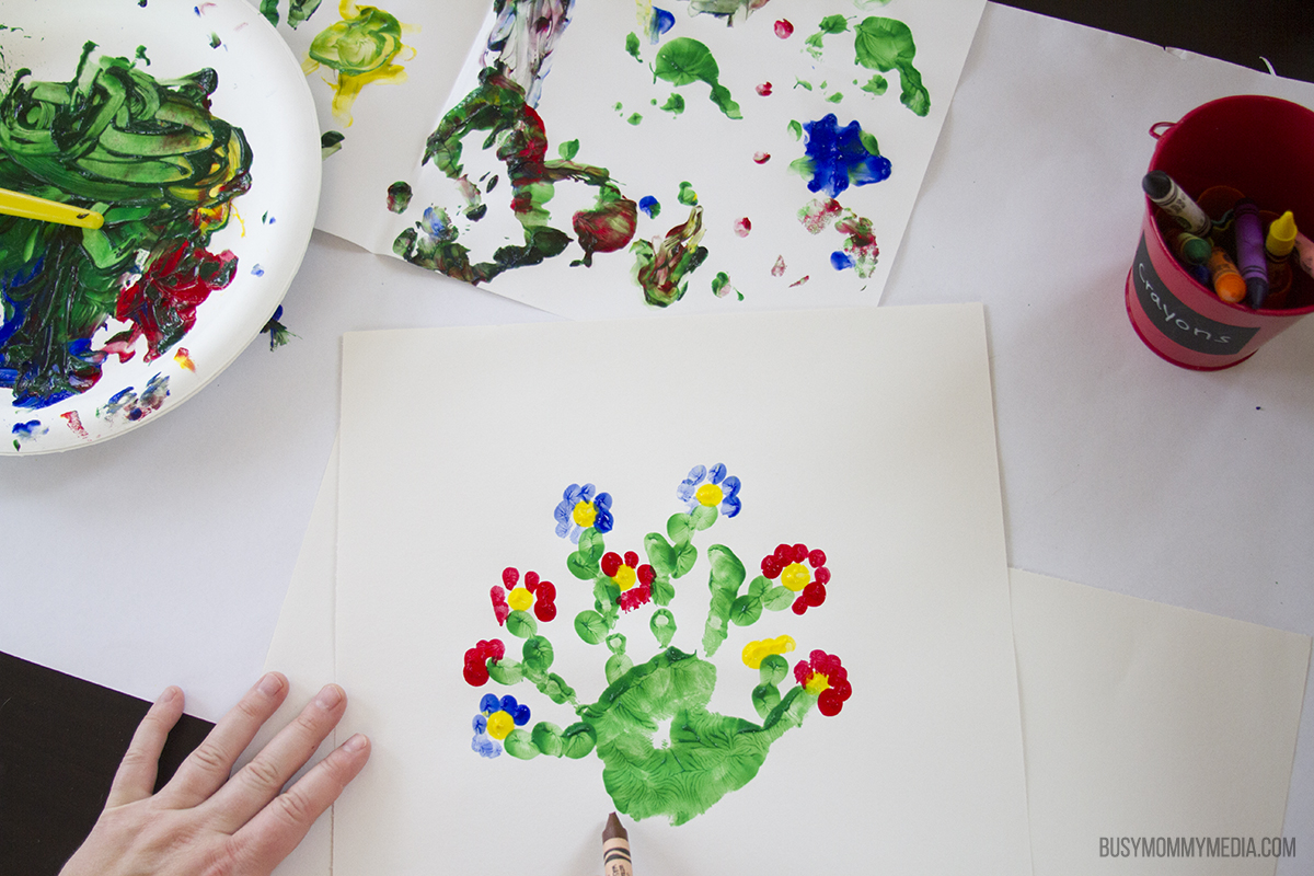 Handprint Cactus art for kids