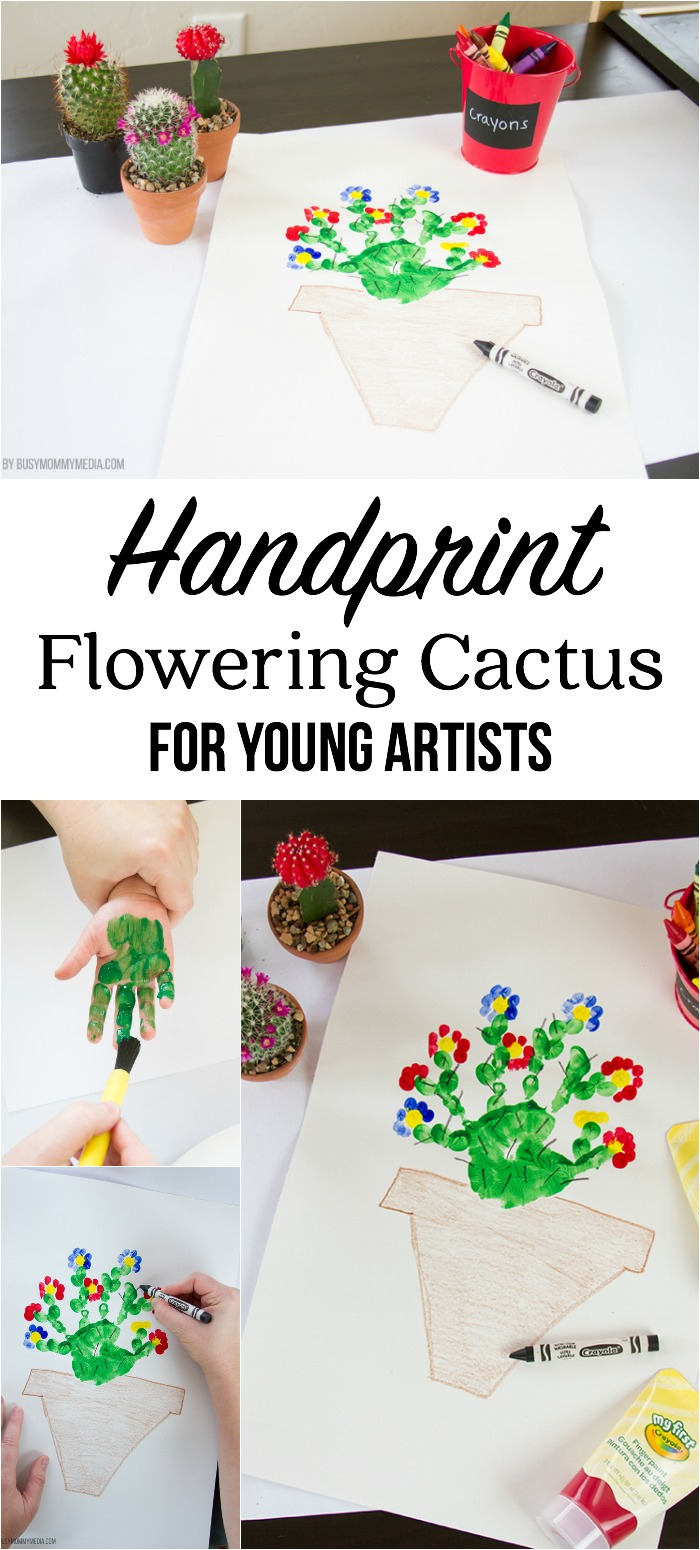 Handprint Flowering Cactus for Young Artists