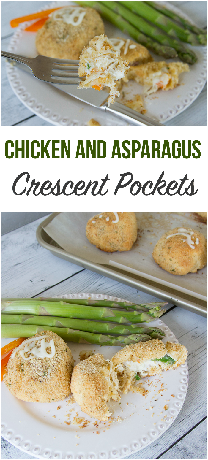 Chicken and Asparagus Crescent Pockets