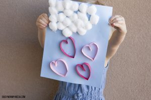 Raining Hearts Valentine's Day Craft