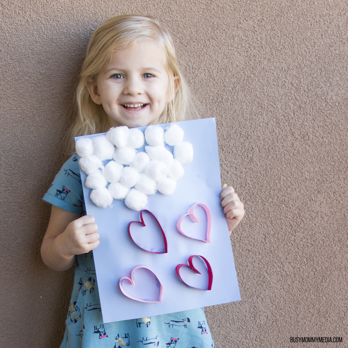 Raining Hearts Valentine's Day Craft for Kids