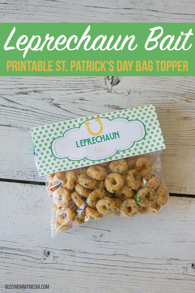 Leprechaun Bait - Printable St. Patrick's Day Bag Topper