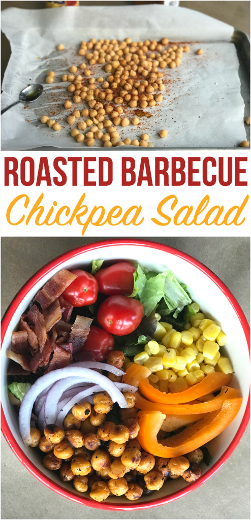 Roasted Barbecue Chickpea Salad