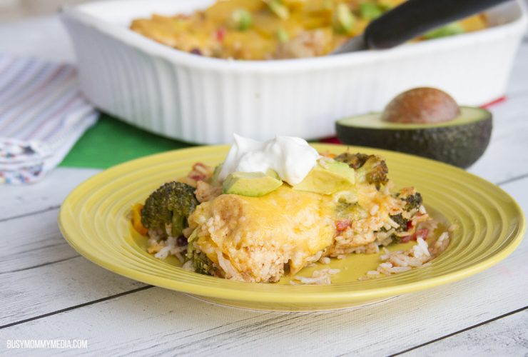 Mexican Chicken and Rice Bake