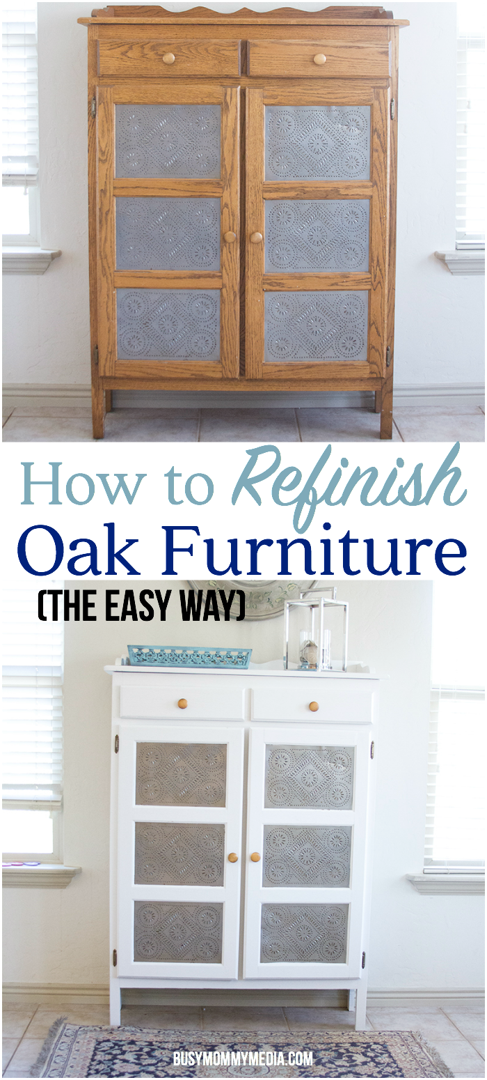 How To Refinish Oak Furniture The Easy Way