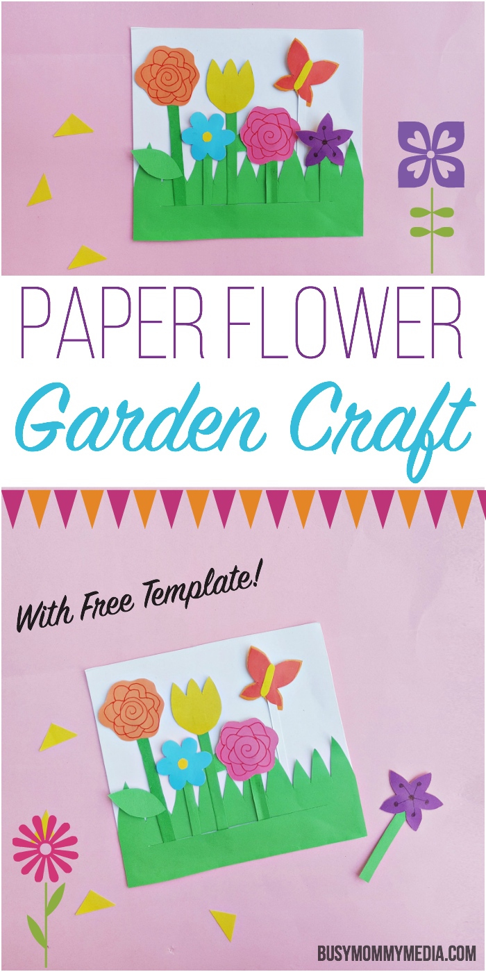 Summer Crafts for Kids - Paper Flower Garden