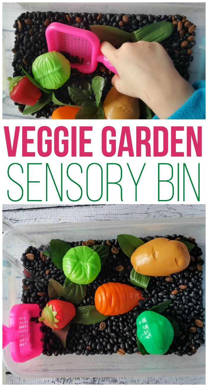Veggie Garden Sensory Bin