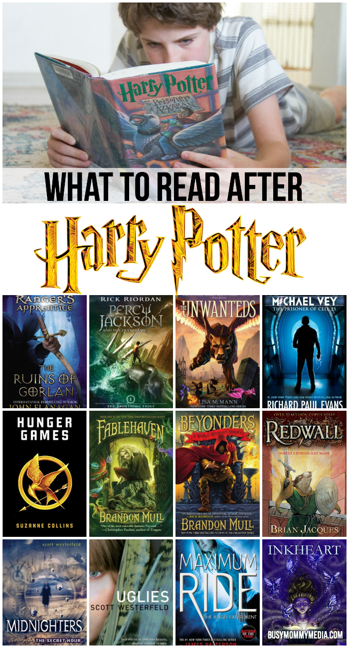 What to Read After Harry Potter | Fantastic book recommendations for Harry Potter fans. These books will get, even reluctant readers excited about reading. Includes books for teens and books for tweens.