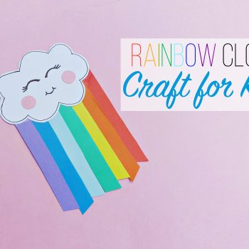 Rainbow Cloud Craft for Kids