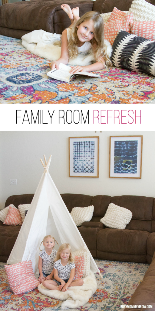 Back-to-School Family Room Refresh