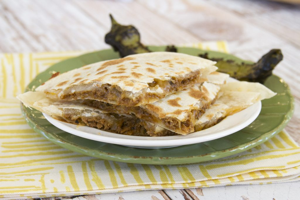 Green Chili Quesadillas