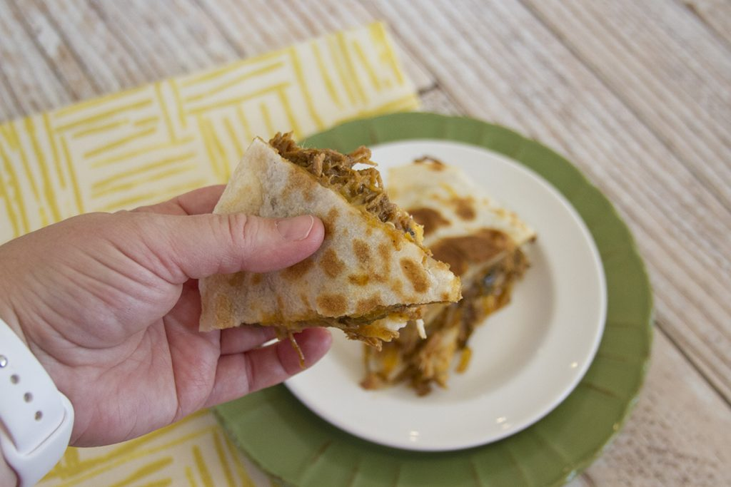 Roasted green chili quesadilla