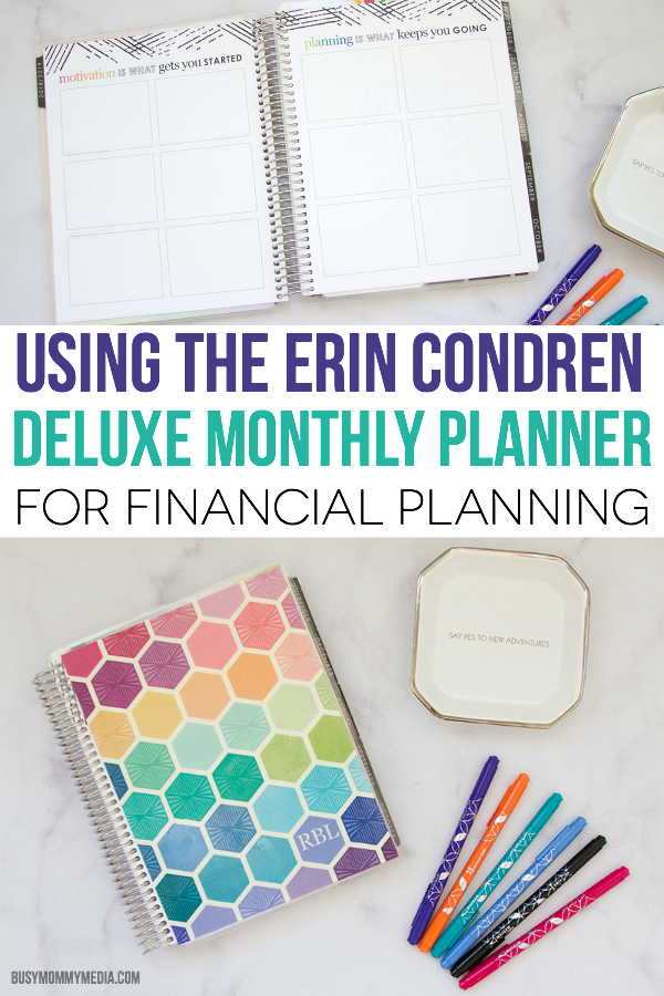Using the Erin Condren Deluxe Monthly Planner for Financial Planning