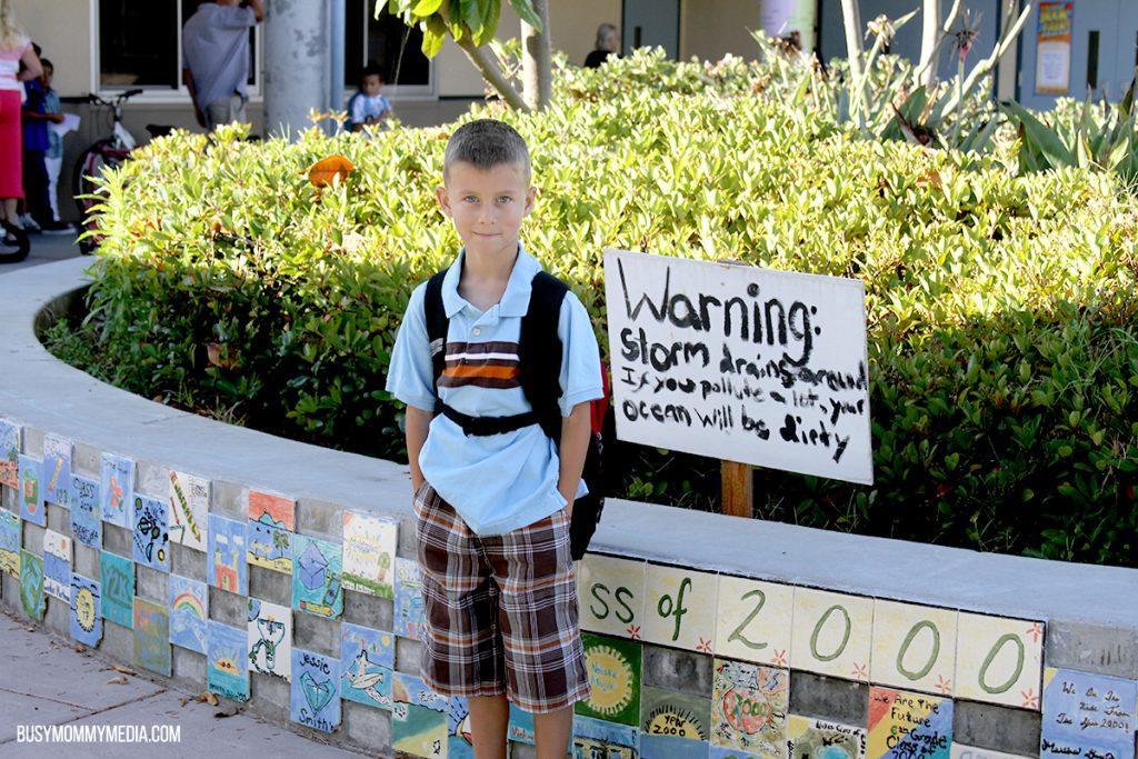 Second Grader Safe at School