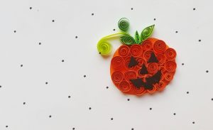 Quilled Jack-O-Lantern – Paper Quilling Project for Kids
