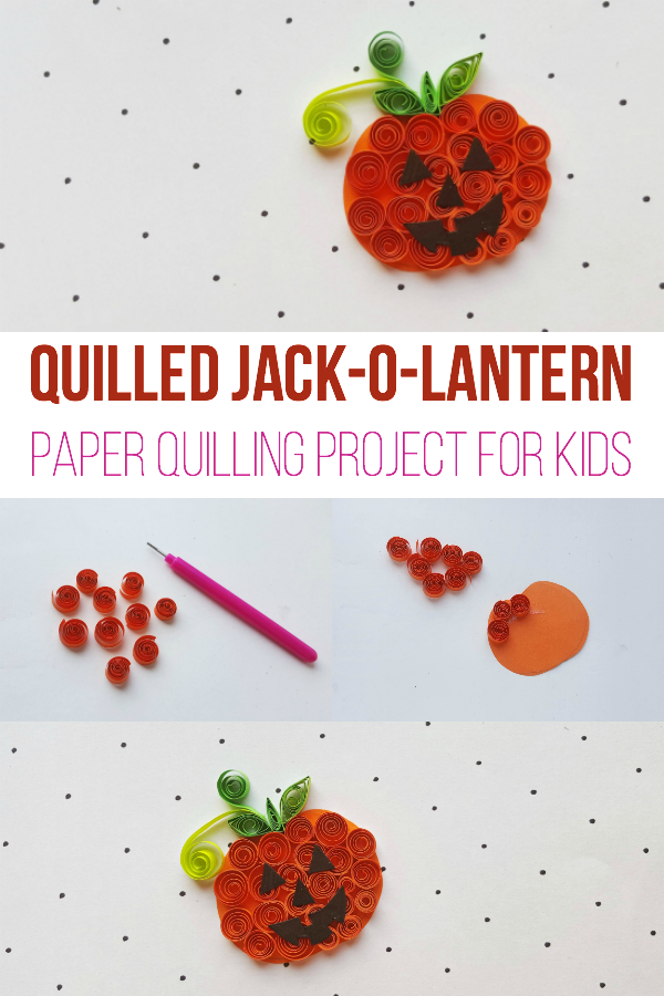 Quilled Jack-O-Lantern - Paper Quilling Project for Kids