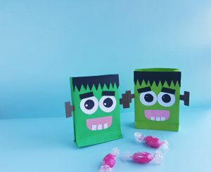 Frankenstein Halloween Treat Bag Craft