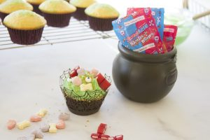 Lemon-Lime Witches Brew Poke Cupcakes