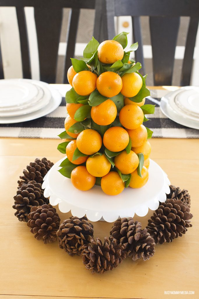 Mandarin Tower Table Centerpiece