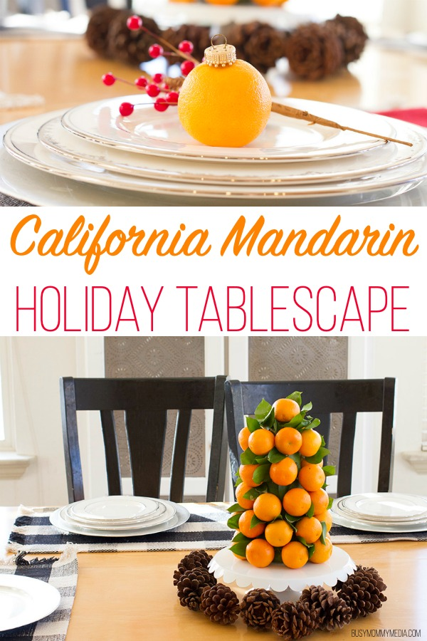California Mandarin Holiday Tablescape