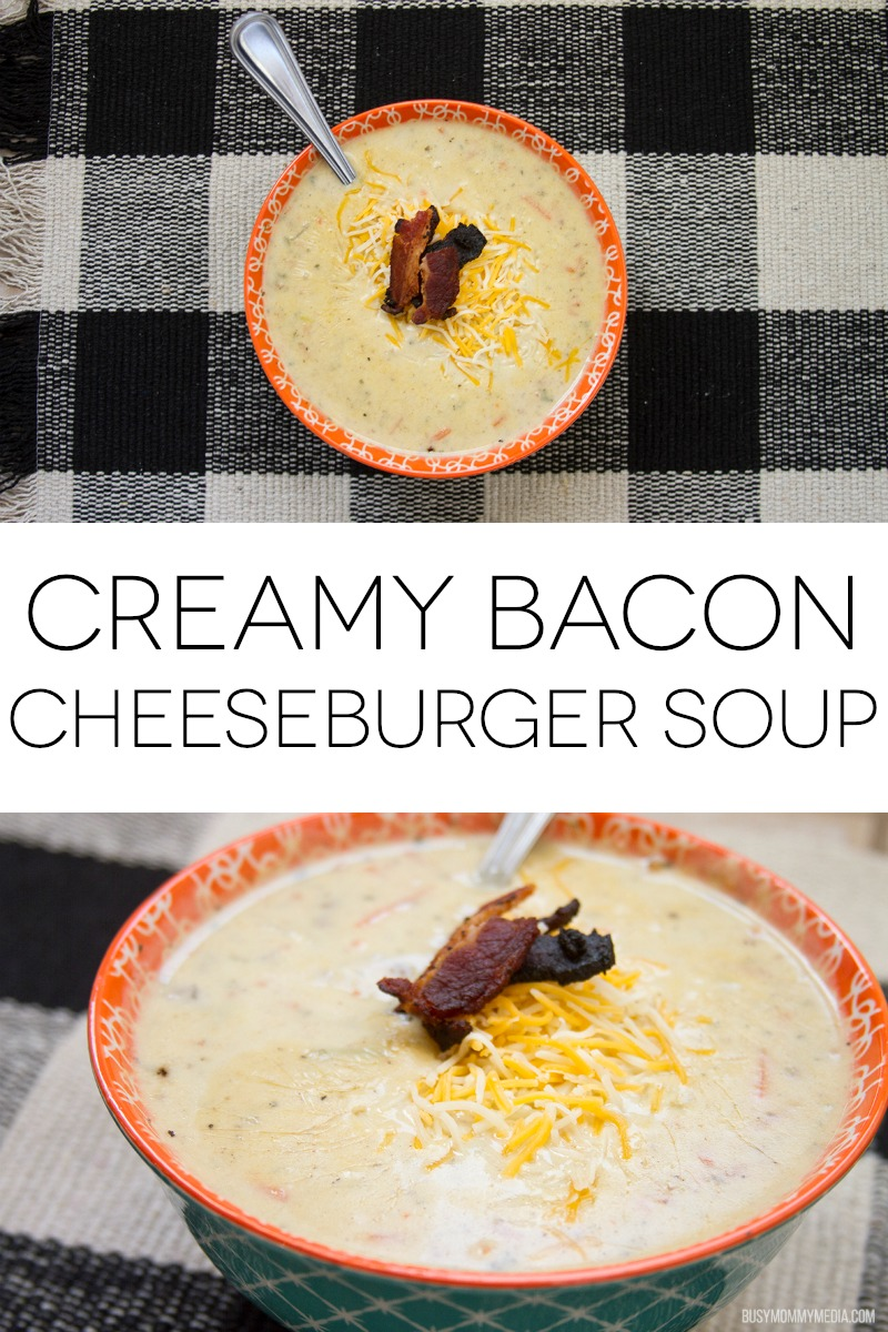 Creamy Bacon Cheeseburger Soup