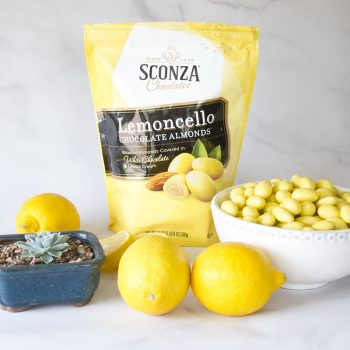 Lemoncello Chocolate Almonds