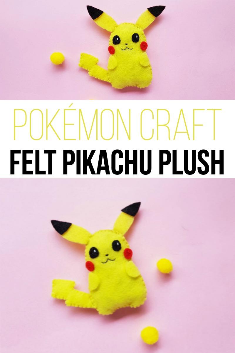 Pokémon Craft - DIY Felt Pikachu Plush