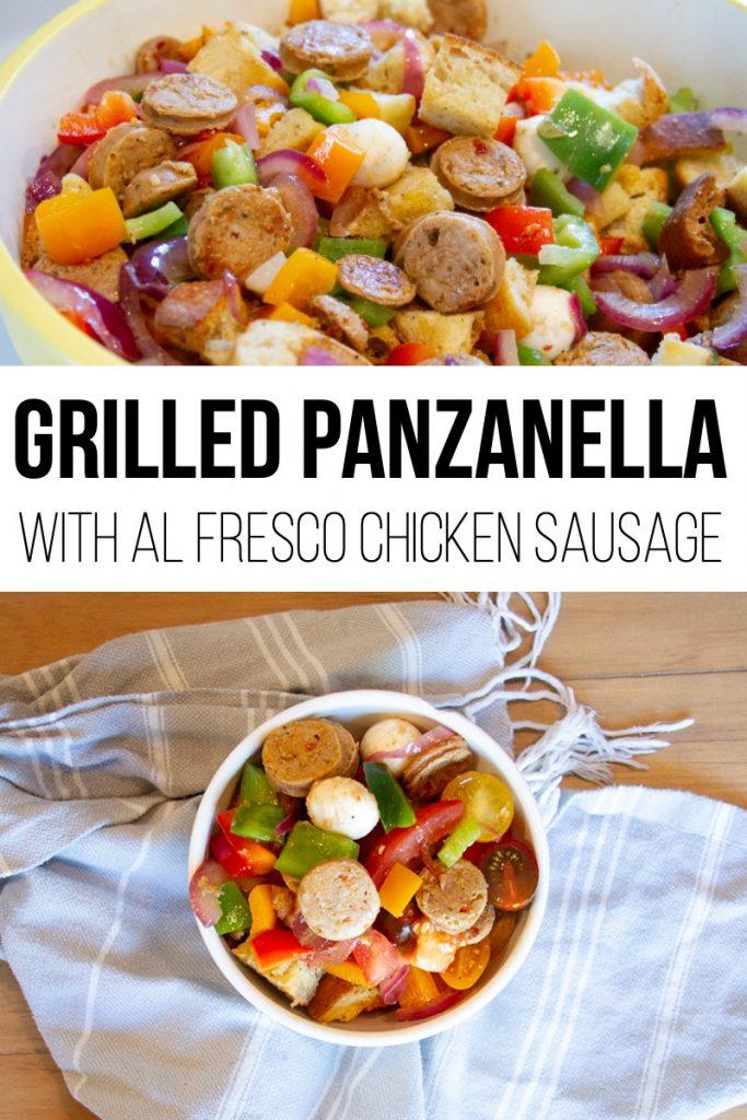Grilled Panzanella with Chicken Sausage