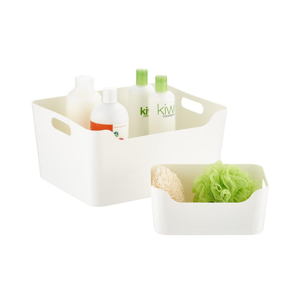 White storage containers