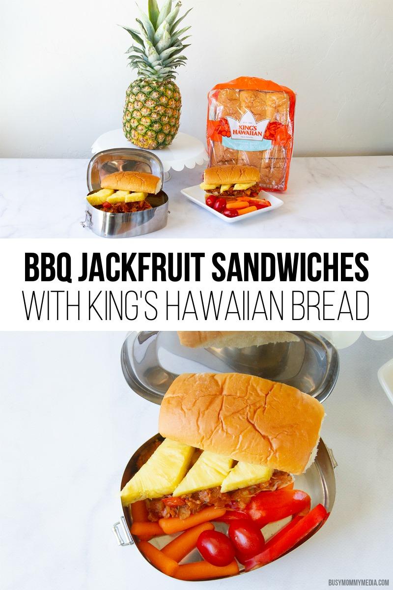 BBQ Jackfruit Sandwiches with King's Hawaiian Bread