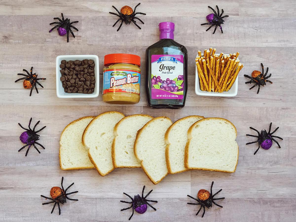 Easy Spider Sandwiches