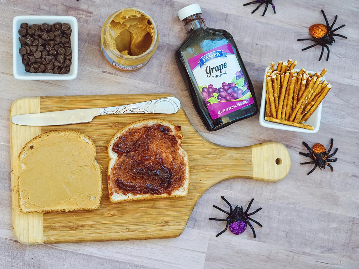 Halloween Spider Sandwiches