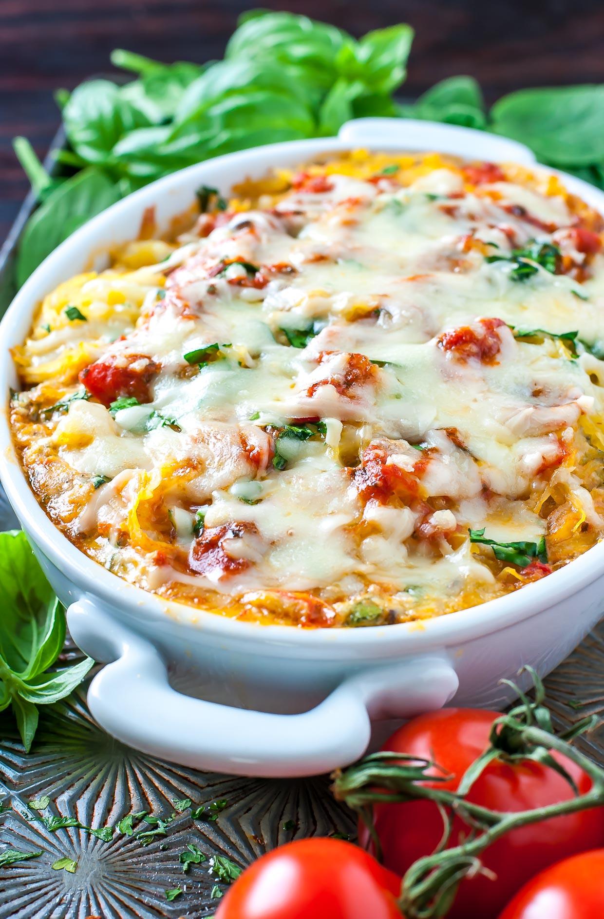 vegetarian spaghetti squash casserole
