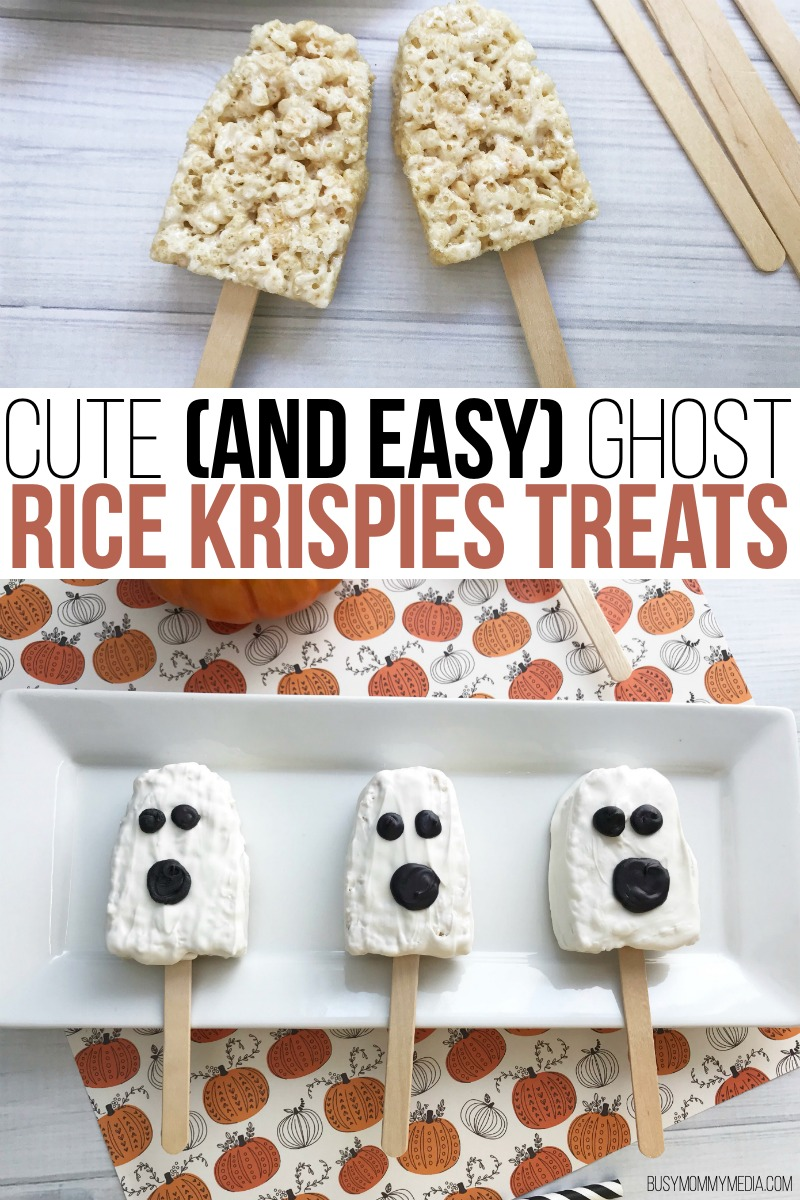 Cute (and EASY) Ghost Rice Krispie Treats