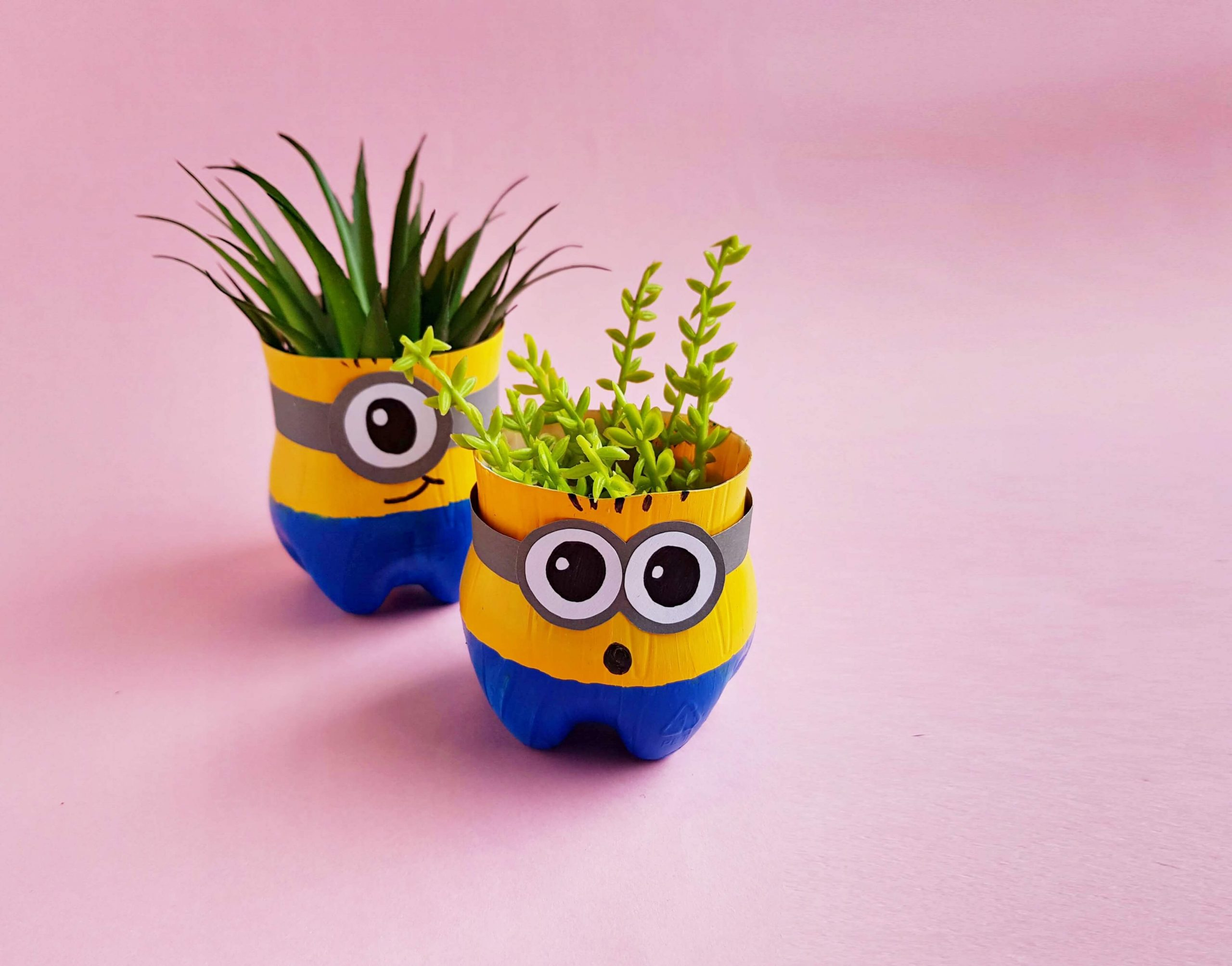 Recycled Minion Planters